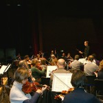 In rehearsal with the Orchestra Sinfonica della Provincia di Bari, December 2013