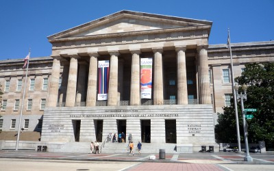 Matthias Manasi conducts a symphonic concert at the National Gallery of Art in Washington
