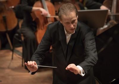 Matthias Manasi conducting the Liepaja Symphony Orchestra at the Liepaja International Stars Festival, Great Amber Concert Hall in Liepaja on March 5, 2016 in Liepaja, Latvia. Photo © Mārtiņš Sīlis