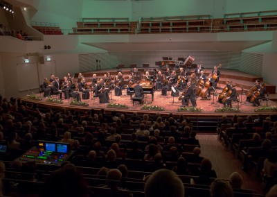 Conductor and pianist Matthias Manasi and the Liepaja Symphony Orchestra perform at the Great Amber Concert Hall in Liepaja on March 5, 2016 in Liepaja, Latvia. Photo © Mārtiņš Sīlis