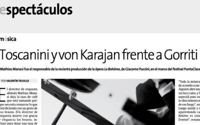 Toscanini y von Karajan frente a Gorriti